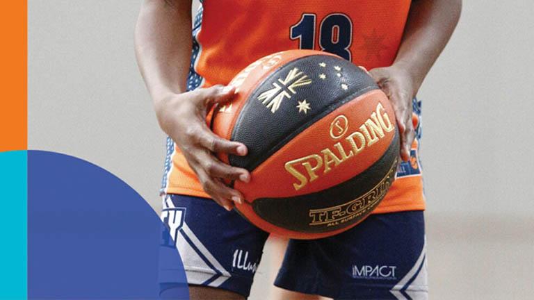 Size 5 basketball to enhance skill development